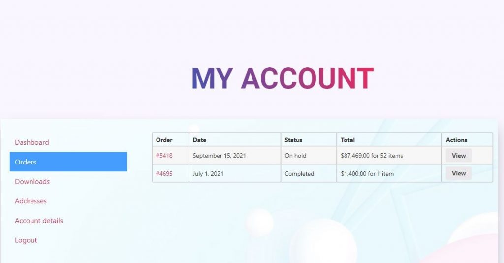 customize woocommerce my account with elementor